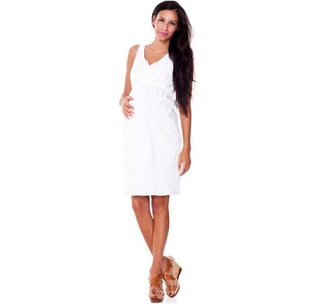 catalogo benetton premama vestido blanco