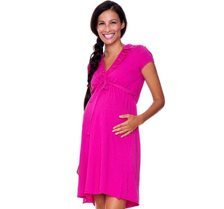 catalogo benetton premama vestido rosa