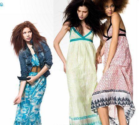 catalogo benetton primavera verano 2012 vestidos largos