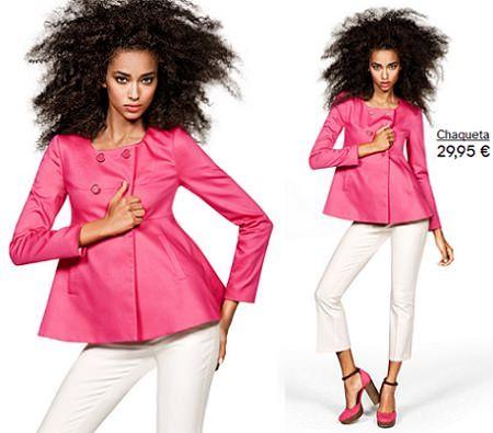 catalogo hm chaqueta rosa