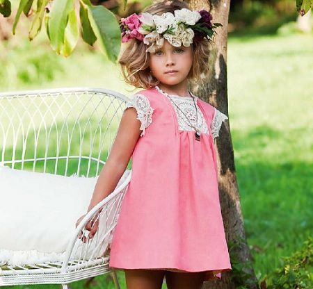 catalogo nanos primavera verano vestido rosa
