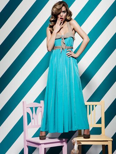 catalogo poete primavera verano 2012 vestido azul