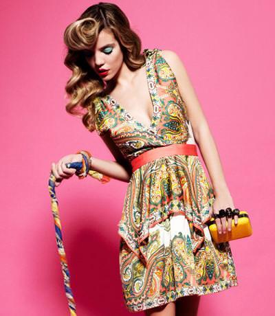 catalogo poete primavera verano 2012 vestido colores