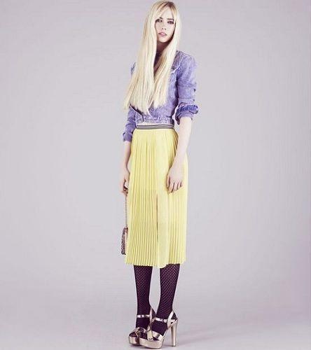 catalogo topshop primavera verano falda amarilla