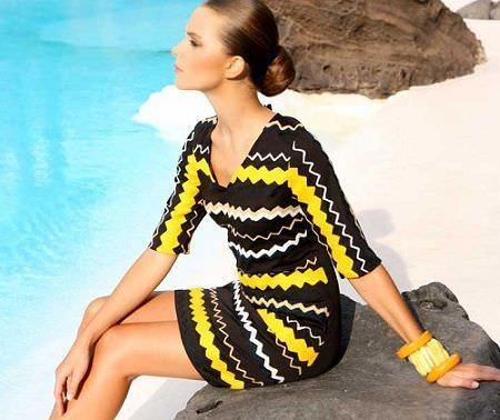 catalogo almatrichi primavera verano vestido amarillo