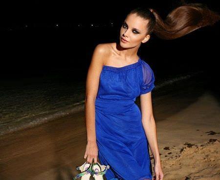 catalogo almatrichi primavera verano vestido azul