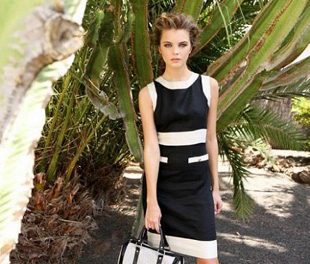 catalogo almatrichi primavera verano vestido blanco negro