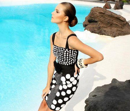 catalogo almatrichi primavera verano vestido geometrico