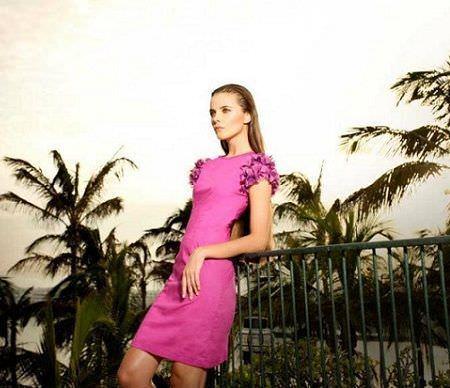 catalogo almatrichi primavera verano vestido rosa