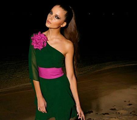 catalogo almatrichi primavera verano vestido verde