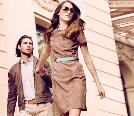catalogo caramelo primavera verano 2012 vestido ante