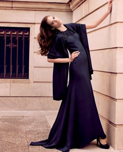 catalogo caramelo primavera verano 2012 vestido largo negro