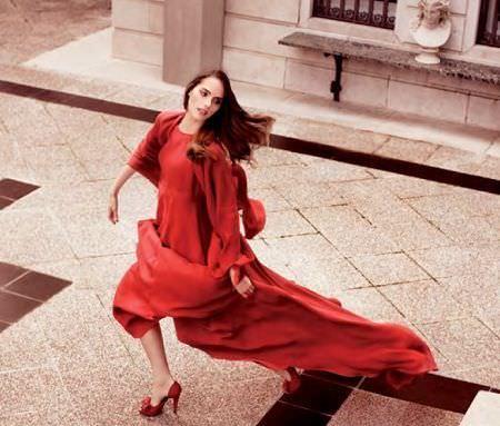 catalogo caramelo primavera verano 2012 vestido largo rojo