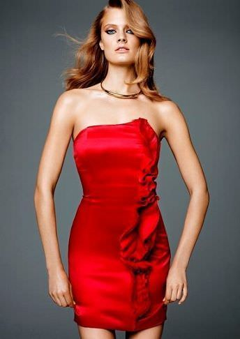 catalogo hm concicious collection vestido rojo