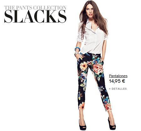 catalogo hm pants collection flores