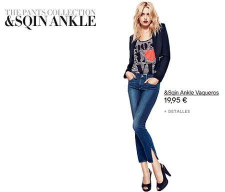 catalogo hm pants collection jeans tobilleros