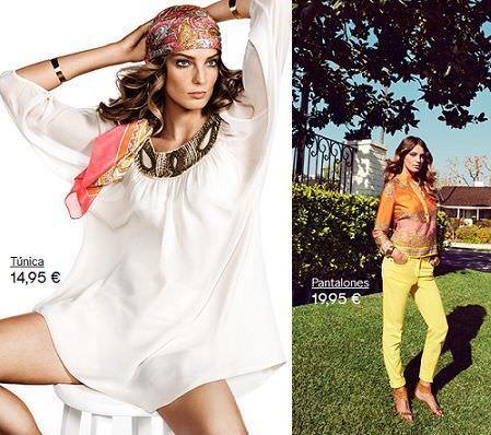 catalogo hm primavera 2012 pantalones amarillos