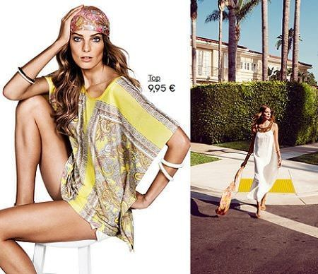 catalogo hm primavera 2012 panuelo amarillo
