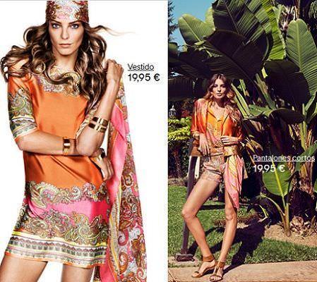 catalogo hm primavera 2012 vestido panuelo