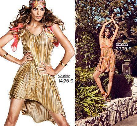 catalogo hm primavera 2012 vestido plisado