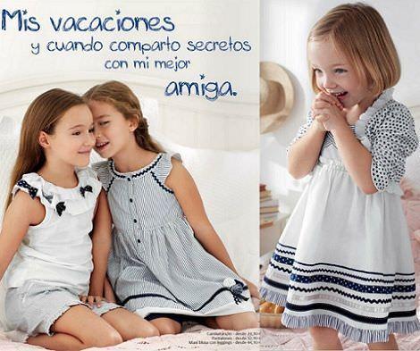 catalogo chicco primavera verano 2012 vestido blanco azul