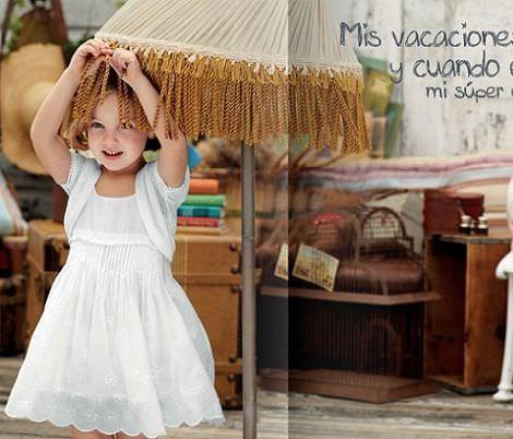 catalogo chicco primavera verano 2012 vestido blanco