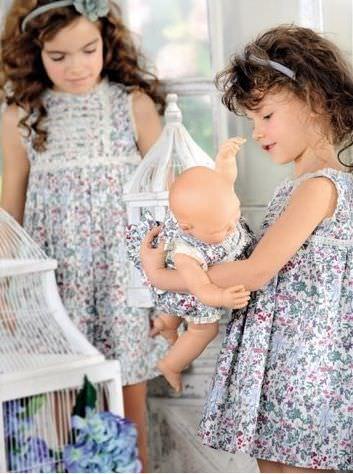 catalogo el corte ingles moda infantil nina vestidos flores colores