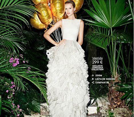 catalogo hm concisious collection vestido largo