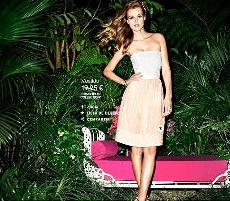 catalogo hm concisious collection vestido rosa