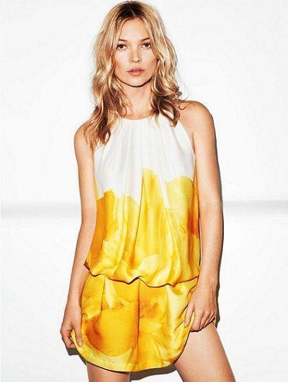 catalogo mango verano 2012 vestido amarillo
