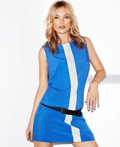 catalogo mango verano 2012 vestido azul