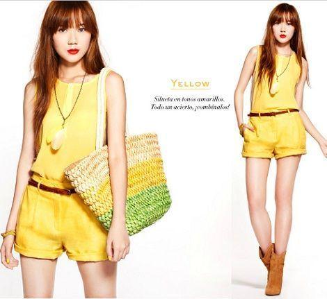 mango primavera 2012 camille colorful yellow