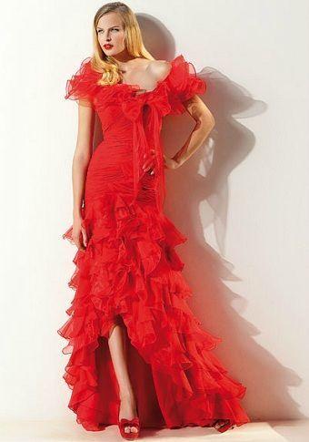 sonia pena primavera verano 2012 vestido rojo