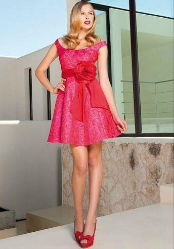 sonia pena primavera verano 2012 vestidos rojo vuelo