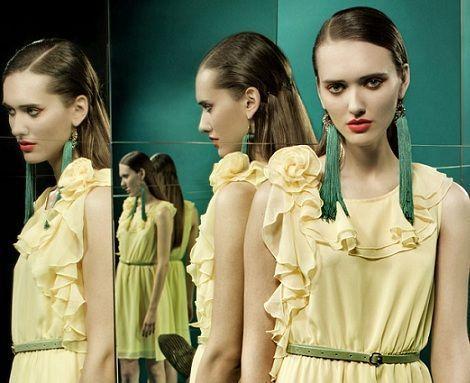 tonala primavera verano 2012 vestido amarillo