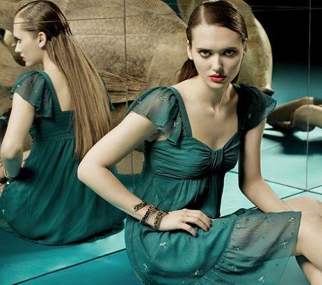 tonala primavera verano 2012 vestido gasa verde