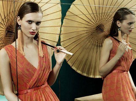 tonala primavera verano 2012 vestido naranja