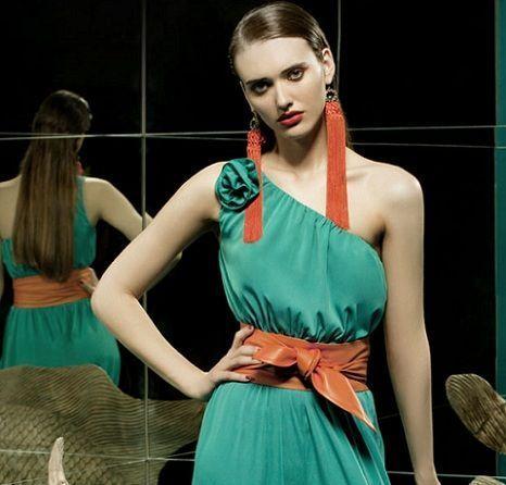 tonala primavera verano 2012 vestido verde