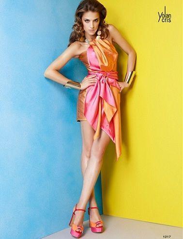 yolan cris vestidos fiesta 2012 corto colores