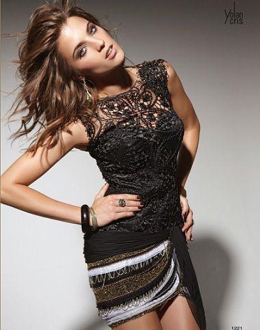 yolan cris vestidos fiesta 2012 corto negro