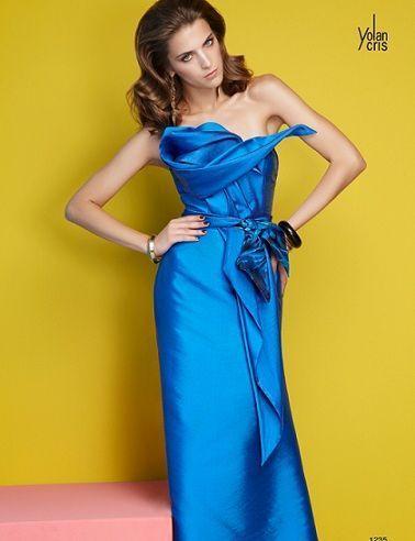 yolan cris vestidos fiesta 2012 largo azul
