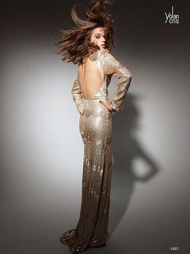 yolan cris vestidos fiesta 2012 largo dorado