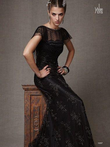 yolan cris vestidos fiesta 2012 largo negro