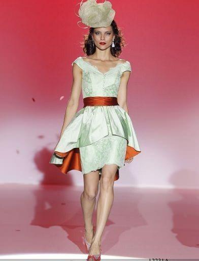 ana torres primavera verano 2012 vestido corto peplum