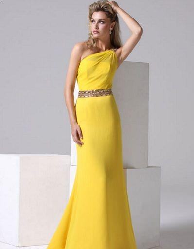 ana torres primavera verano 2012 vestido largo amarillo