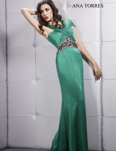 ana torres primavera verano 2012 vestido largo verde
