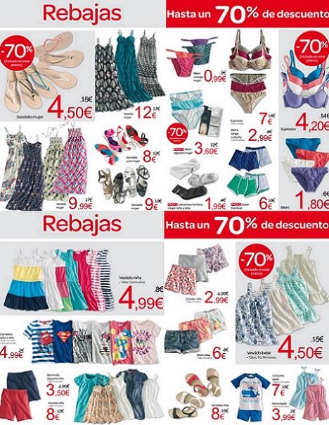 Folleto de rebajas de Carrefour del verano 2013