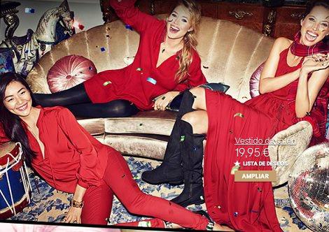 Campaña de H&M con vestidos y ropa para Nochevieja y Navidad 2013 2014