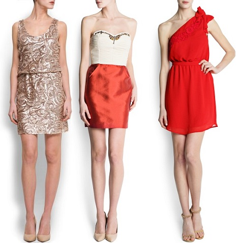 vestidos de fiesta para bodas y eventos de mango verano 2013