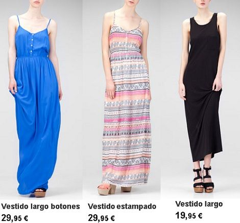 vestidos de stradivarius primavera verano 2013